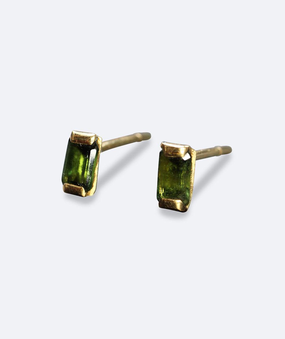 Emerald Green Set Stud Earrings Vanessa Belgers